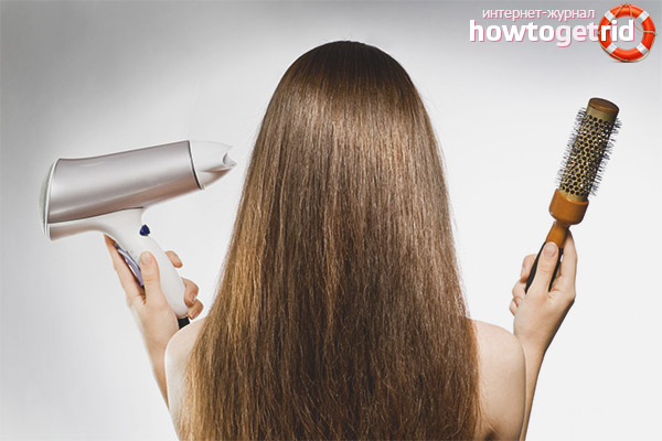Haarstyling und Trocknen