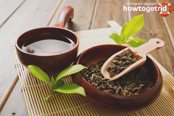 Зелен чай за лицето