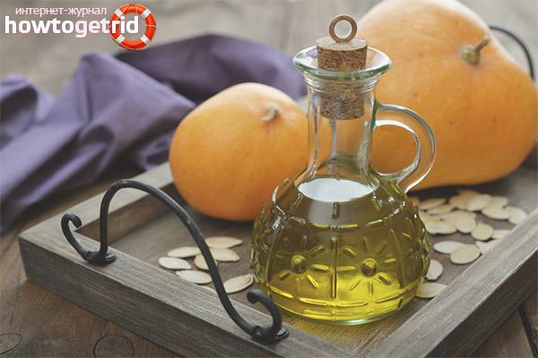 Cum se folosește uleiul de slăbire a dovleacului