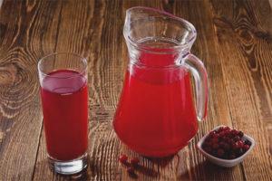 Beguda de fruita de lingonberry congelada