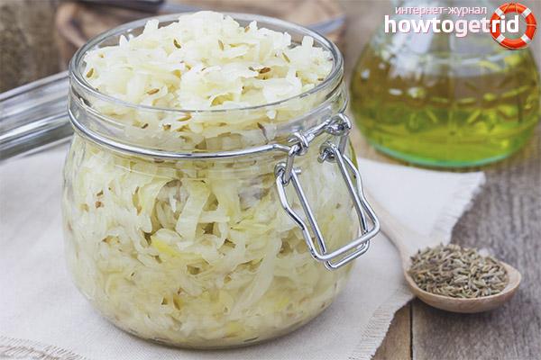 Ist es möglich, Sauerkraut zu essen, wenn Sie Gewicht verlieren