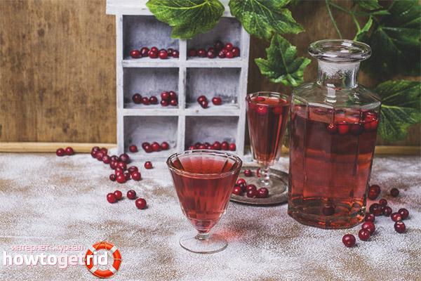 Tinctură de lingonberry pe vodcă