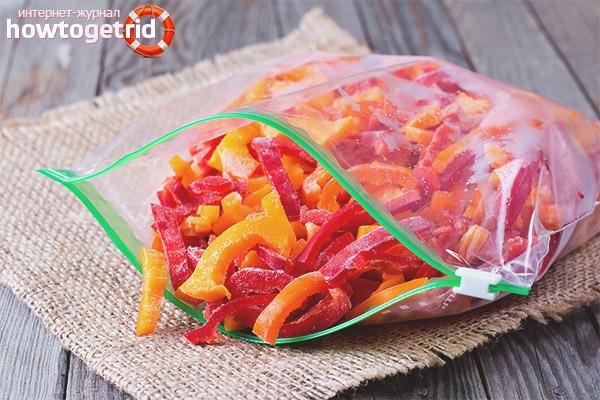 Richtiges Einfrieren von Paprika