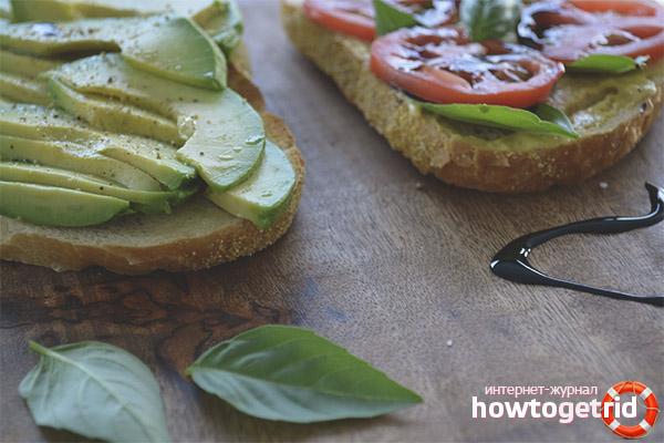 Die Wirkung von Sandwiches mit Avocados auf den Körper