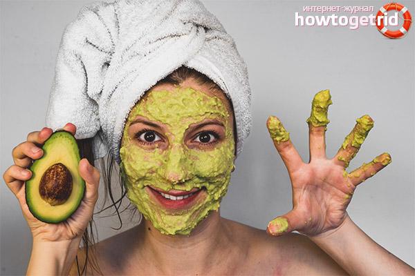 Avocado-Gesichtsmasken