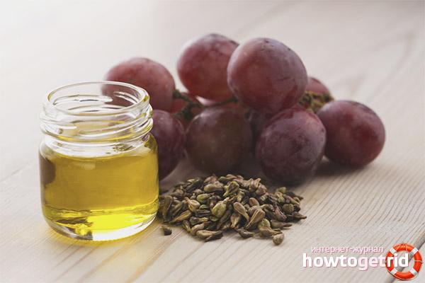 Przepisy na maski do włosów z olejem z pestek winogron