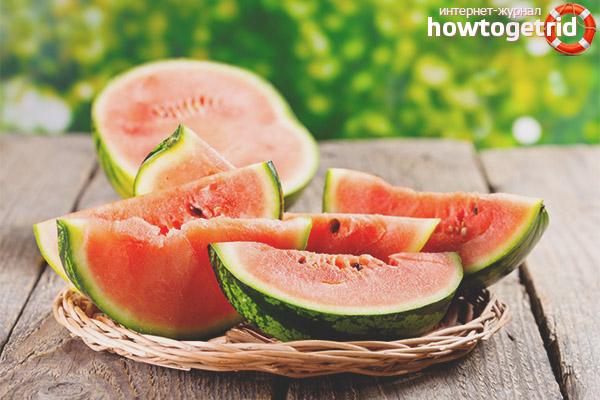 Schädliche Wassermelone mit Diabetes