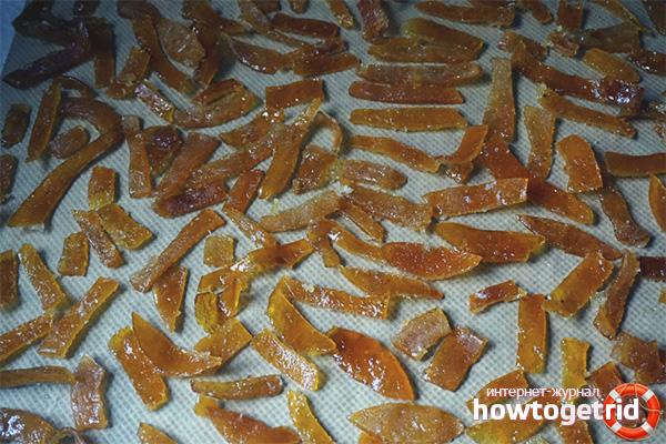 Cukuroti apelsīnu mizas
