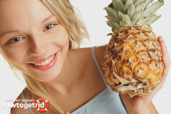 Diäten auf Ananasbasis