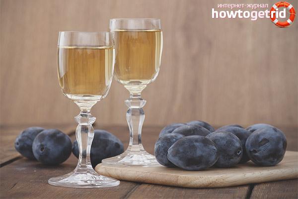Wein aus Pflaumen