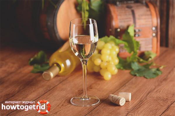 Tác dụng của rượu vang trắng đối với cơ thể