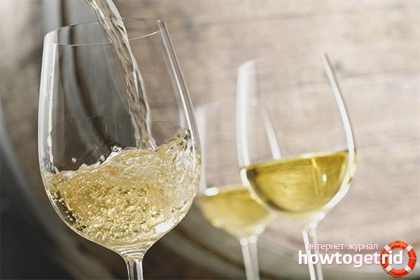 Tác hại của rượu trắng khô