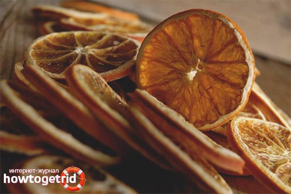 Kā nožūt apelsīnu dekorēšanai