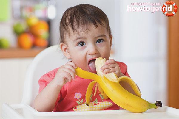 Hvornår kan jeg gå ind i en banan i barnets menu