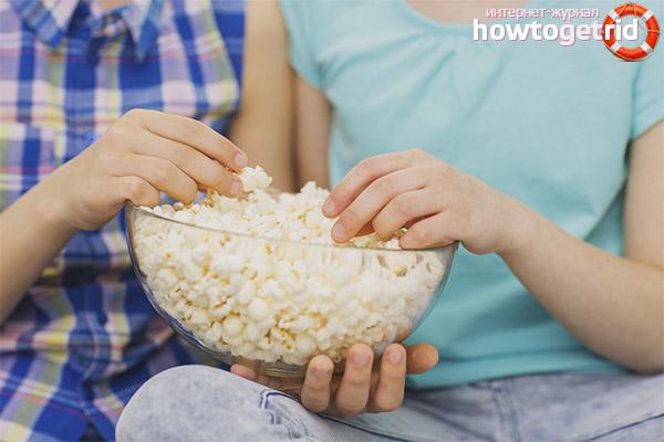 Característiques de la introducció de crispetes de blat de moro en la dieta dels nens