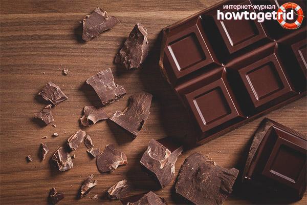 Tumšās šokolādes priekšrocības un kaitējums