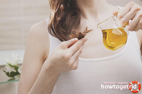 Recettes de cheveux avec de l'huile de tournesol