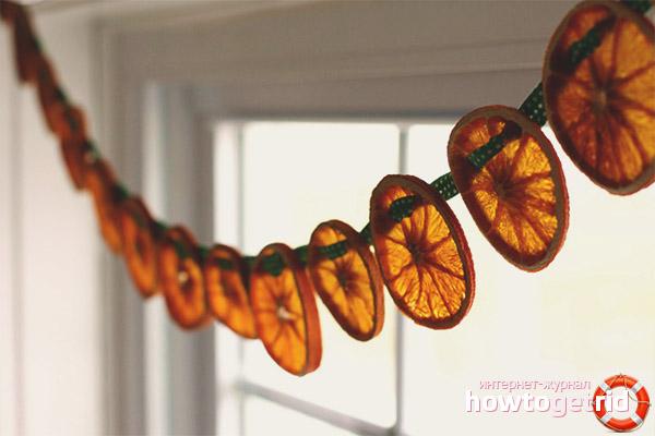 Žāvēti apelsīni dekorēšanai