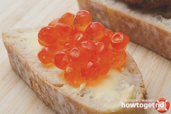 In welcher Form soll man Kindern roten Kaviar geben?