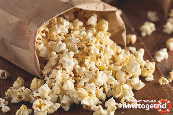 Popcorn perjudicial per a un nen