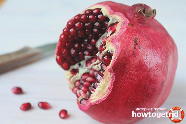 Die Einführung von Granatapfel in Ergänzungsnahrungsmitteln