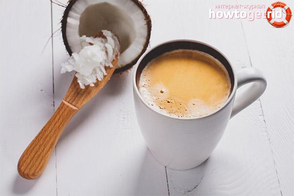 Cafea cu lapte de cocos
