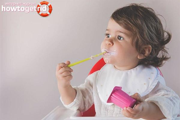 Jogurta ieviešanas iezīmes bērnu uzturā