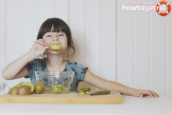 Kivi ieviešanas iezīmes bērnu uzturā