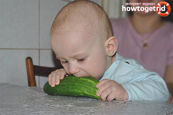 A quina edat es pot donar cogombres a un nen