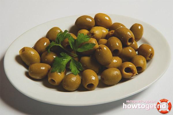 Konservētas olīvas vīriešiem