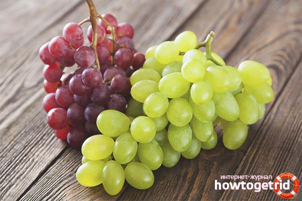 Val av druvor för viktminskning