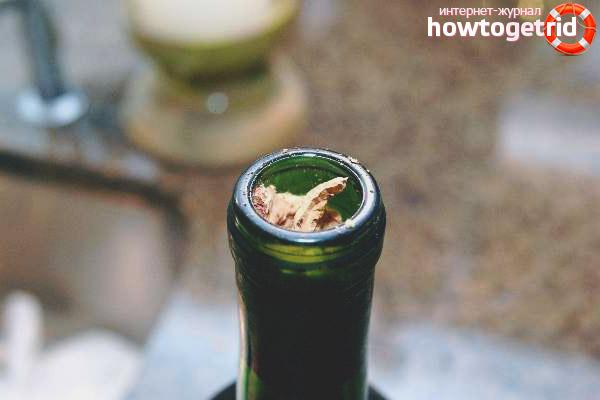 Как да отворите шампанско, ако коркът е счупен