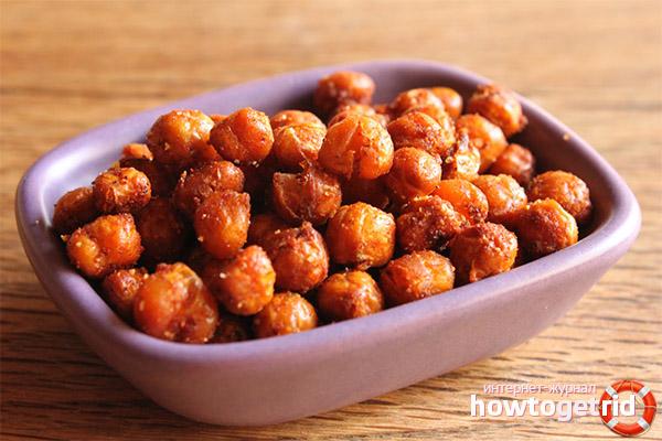 Receptes de cigrons fregits