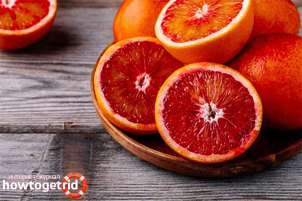 Червени портокали в козметологията