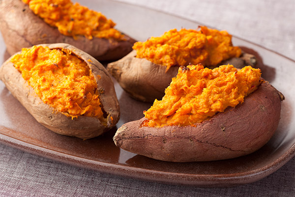 Söta potatisbaserade kulinariska läckerheter