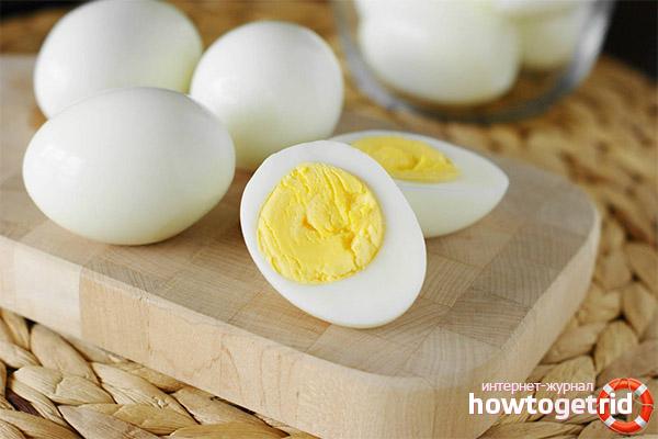 Gekochte Eier zur Gewichtsreduktion