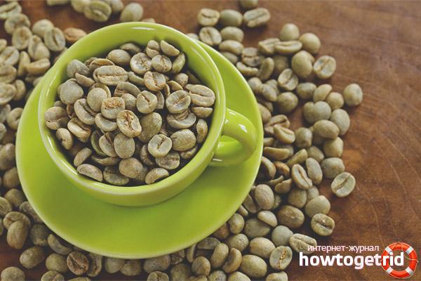 Sätt att använda grönt kaffe