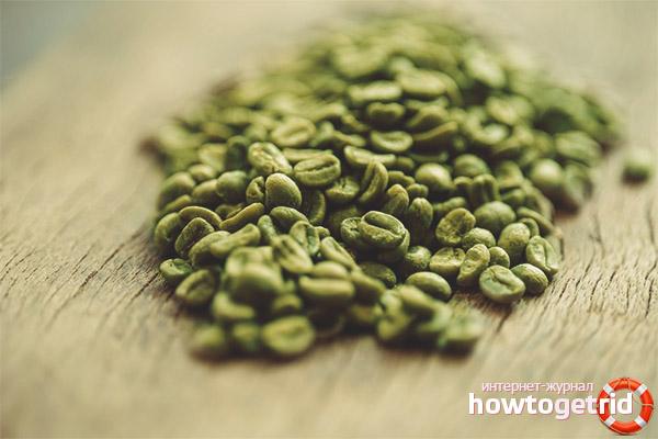 Typer av grönt kaffe