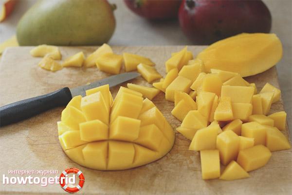 Kā ēst mango